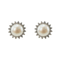 Aretes de plata 925 con perlas de agua dulce
