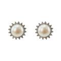 Boucles d'oreilles en argent 925 avec perles d'eau douce