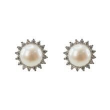 925 Серебряные серьги с речным жемчугом