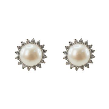 925 Silber Süßwasser Perle Ohrstecker