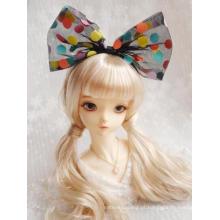 Acessórios BJD peruca preta / branca bandagem para boneca SD