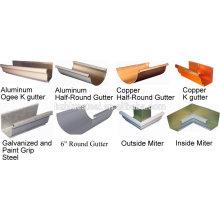 Machine à formage de rouleaux de gouttière demi-ronde / Machine de gouttière à forme rectangulaire / Machine de fabrication de gouttières trapézoïdales en métal