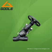 900 ~ 2500lb Joint de pression forgée Y Globe Valve (GAJ65H)