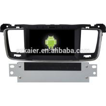 Navegação android Gps do carro para Peugeot 508 com GPS / Bluetooth / TV / 3G / WIFI