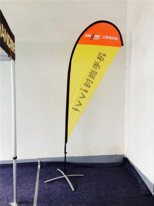 10 FT Pengiklanan Outdoor Teardrop Flag Banners