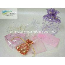 geringes Gewicht Bright Folierung Polyester Organza für Candy Bag