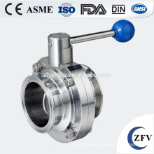Фабрика цена санитарный клапан (304 / 316L TC соединение зажим/сварки/потока/НР ВР