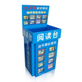 Durable Cardboard Reading Display Stand, Corrugated Dumpbin for Comic Books
