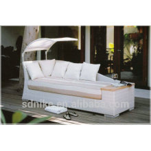 synthetic rattan sofa bed with shadow