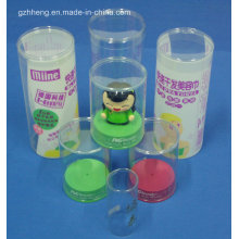 Cylinder Round Plastic Box with Printing (HH397)
