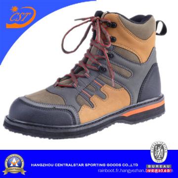 Chaussures de pêche pour hommes marchent sur des chaussures de l'eau