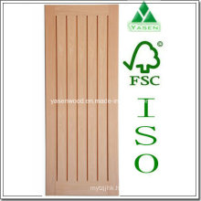 Interior Vertical Panel Hotsale Wooden Oak Door