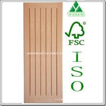 Porta de madeira de carvalho