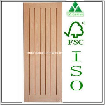 Porte intérieure en bois à panneaux verticaux Hotsale