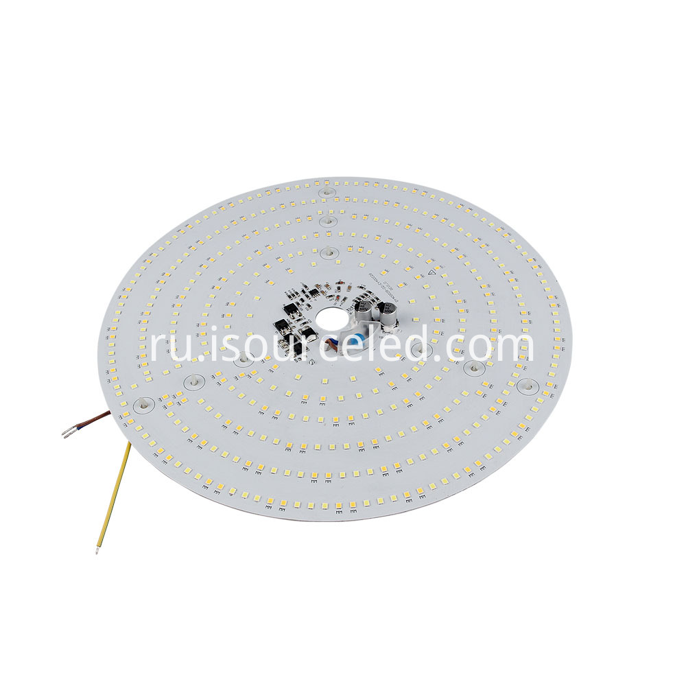 Side view of a Colorable smd 2835 Round 40W AC LED Module