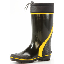 basic  men's sweat-absorbent lining rubber boots