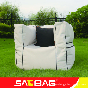 High quality outdoor bean bag sofa with armrest