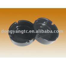 Schwarzer runder Aschenbecher aus Keramik Aschenbecher