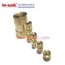 China Supplier Fastener Service Symmetrical Brass Threaded Inserts Nut for Plastic Manufacturer