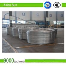 Varilla de aluminio de 9,5 mm tipo 1350 aprobada por IEC para trefilado