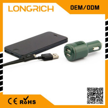 Auto wesentliche universelle 3 in 1 Kfz-Ladegerät, exquisite 2 Port USB Auto Ladegerät 12V