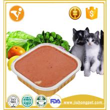 Производитель куриный вкус оптовый консервированный корм для кошек