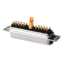 Power D-SUB 21W1 Solder Cup Female Straight Jack