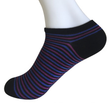 Half Cushion Poly Fashion No Show Thin Stripes Socks (JMPN04)