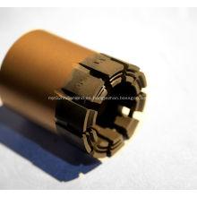 Broca de diamante impregnada con hilo conductor PQ HQ