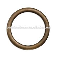 Moda de alta qualidade Metal Antique Brass bolsa anel O