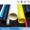 Baixo preço colorido duro PP tubo de plástico transparente