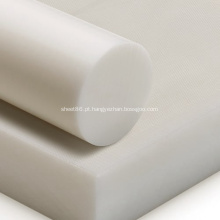 Folha POM de plástico acetal preto e branco