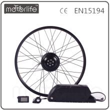 MOTORLIFE / OEM marque 2015 CE ROHS passer 500 w e kit de conversion de vélo, batterie 36 v 20.4ah max