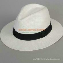 Capuchon de conception personnalisée Panama avec ruban logo imprimé