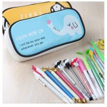 Werbeartikel Leder Kreative High-Capacity Pen Bag. Bleistift Taschen für Studenten