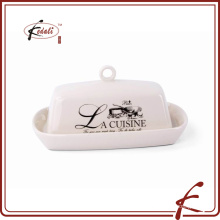 hot selling decal pattern square shape butter dish