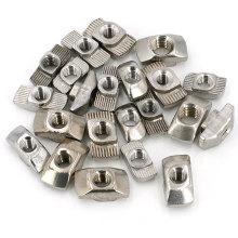 Carbon steel nickel plain  t nut slot 10 for 4040 3030 4545 T Slide nut Aluminum profile