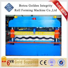Superior calidad de color de acero esmaltado de azulejos de azulejos rollo de la máquina formadora
