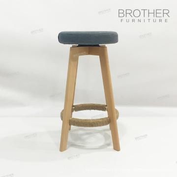 Cadeira de bar redonda de madeira antiga moderna barata