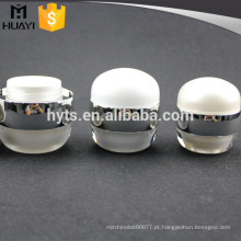 pérola branco redondo vazio acrílico cosmético frasco 50ml