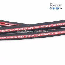 dos manguera de goma hidráulica de la flexión del qingdao de la alta presión del alambre de acero trenzado alto resistente a la abrasión