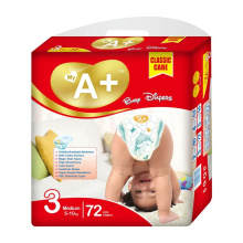 colored  PE Film Disposable Soft PP Tape SAP Fast Absorbent Baby Diapers