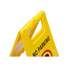 Customized Yellow Plastic A Shape Caution Wet Floor Warning Sign Board