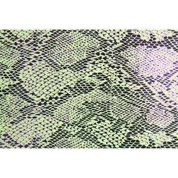Printed Snake Grain Pu Leather