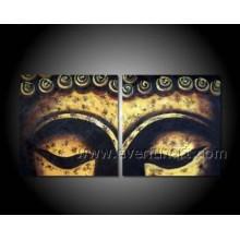 Peinture à l'huile abstraite sur toile de Bouddha sur toile (BU-020)