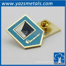 Emblema personalizado com botão de borboleta de metal
