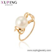 15461 xuping bijoux de mode dernière conception style élégant imitation perle anneau pour les femmes