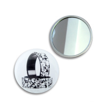 75mm mais novo modelo popular espelho de maquilhagem de vidro colorido