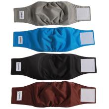 Bandas de barriga laváveis de 4 pacotes para cães machos