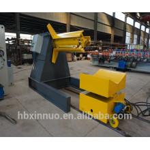 manual de alta calidad 5 toneladas descoiler decoiler máquina con coche de carga